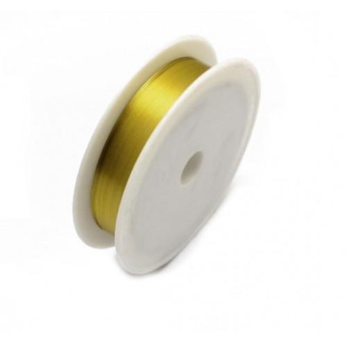 Проволока для бисероплетения 0,30 мм Золотая, 50 м