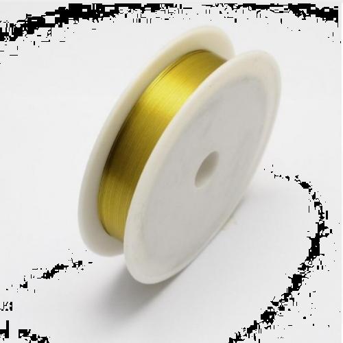 купить проволоку для бисероплетения 0,37 мм. золотую