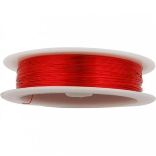 Проволока для бисероплетения 0,30 мм Красная, 50 м