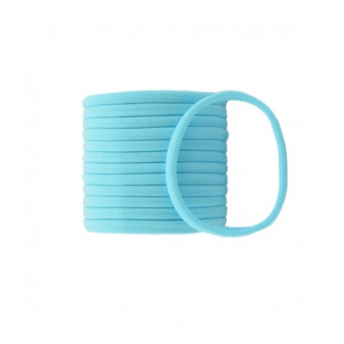 Бесшовная эластичная повязка для волос one size Голубая, фото