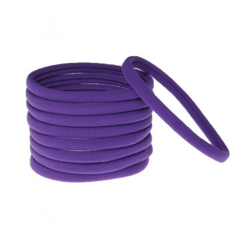 Бесшовная эластичная повязка для волос one size Фиолетовая, фото