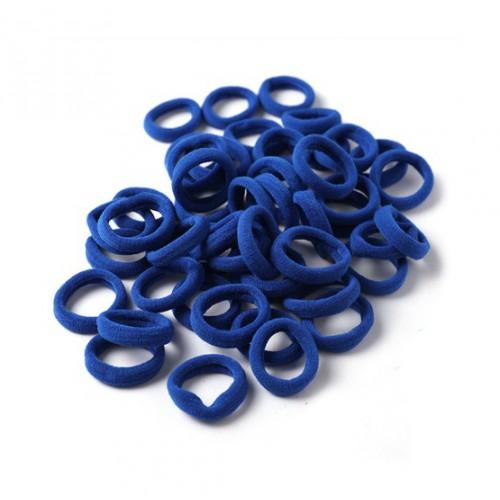 Резинка для волос бесшовная Темно-синяя