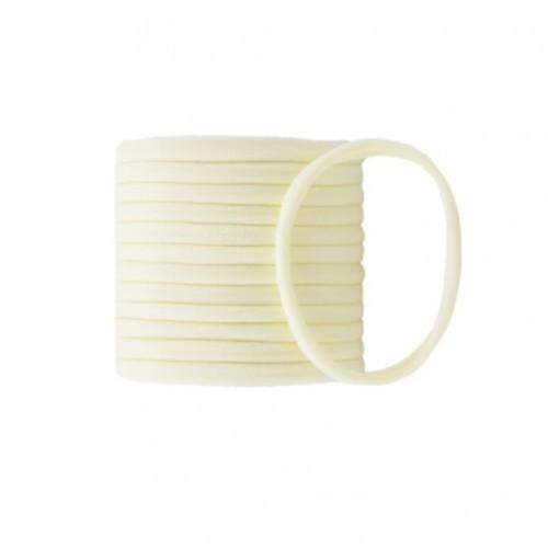 Бесшовная эластичная повязка для волос one size Кремовая, фото