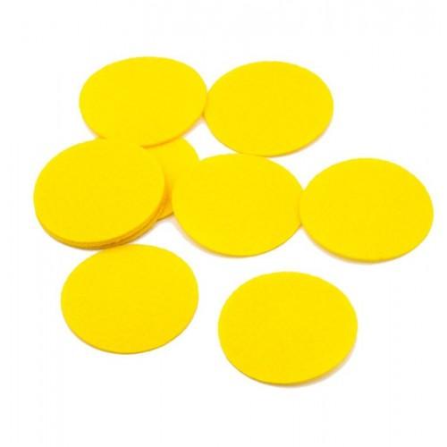 Круг из фетра желтый