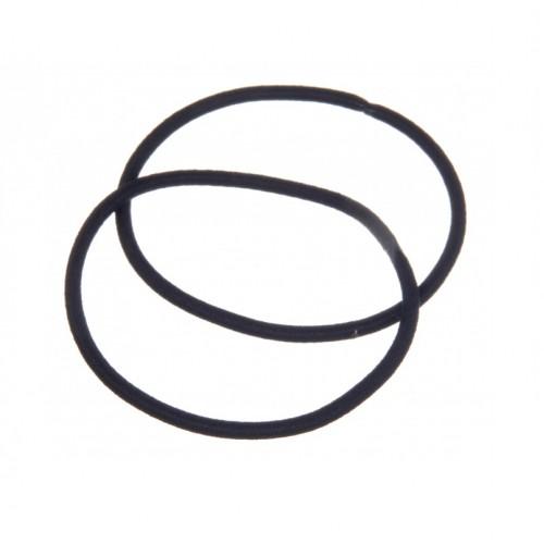 Резинка для волос тонкая черная 5 см