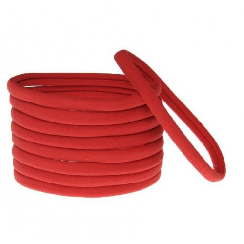 Бесшовная эластичная повязка для волос one size Красная, фото