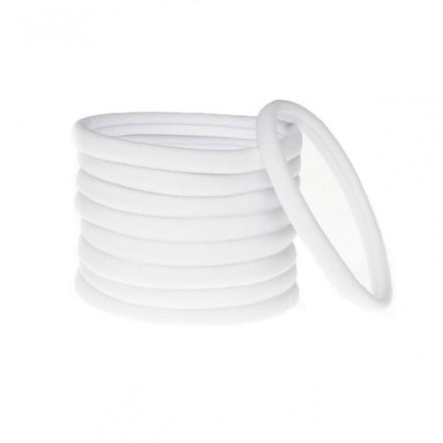 Бесшовная эластичная повязка для волос one size Белая, фото