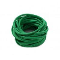 Бесшовная эластичная повязка для волос one size Зеленая
