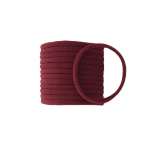 Бесшовная эластичная повязка для волос one size Бордовая фото