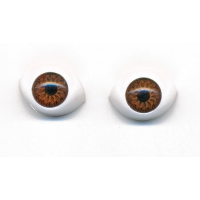 Глазки для игрушек овальные коричневые 15 мм
