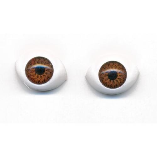 Глазки для игрушек овальные коричневые 20 мм