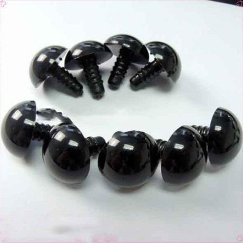 Глазки для игрушек черные на ножке 7 мм