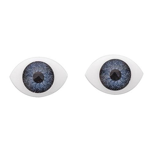 Глазки для игрушек овальные серые 20 мм