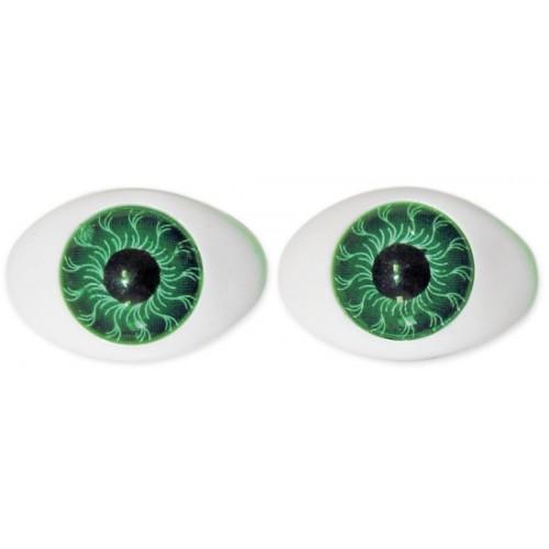 Глазки для игрушек овальные зеленые 20 мм