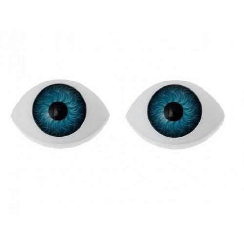 Глазки для игрушек овальные синие 20 мм
