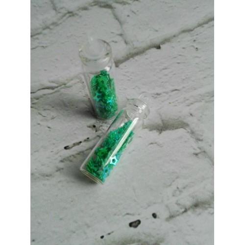 Глиттерные блестки звездочки Зеленый