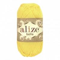 Пряжа хлопок для вязания Alize Bella лимонный №110, 50 г