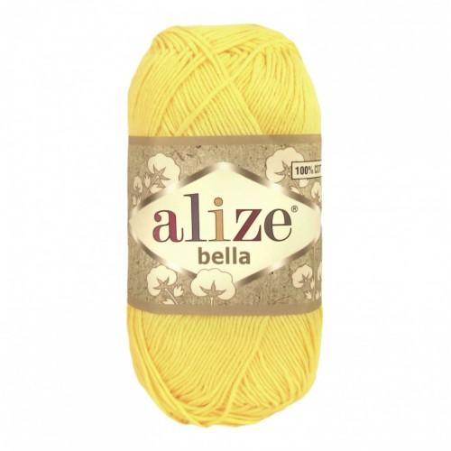 Пряжа хлопок для вязания Alize Bella лимонный №110 фото