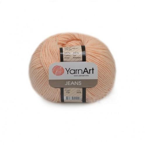 Нитки для вязания YarnArt Jeans, персиковый №73