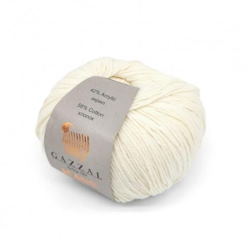 Нитки для вязания Gazzal Jeans, Молочный №1120