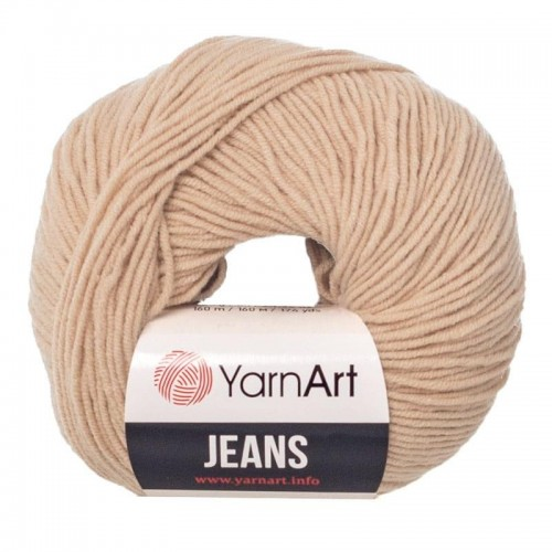 Нитки для вязания YarnArt Jeans, бежевый №07