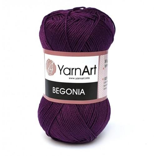 Нитки для вязания YarnArt Begonia Слива № 5550