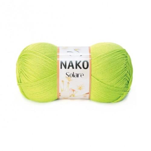 Нитки для вязания Nako Solare салатовый № 11014, фото