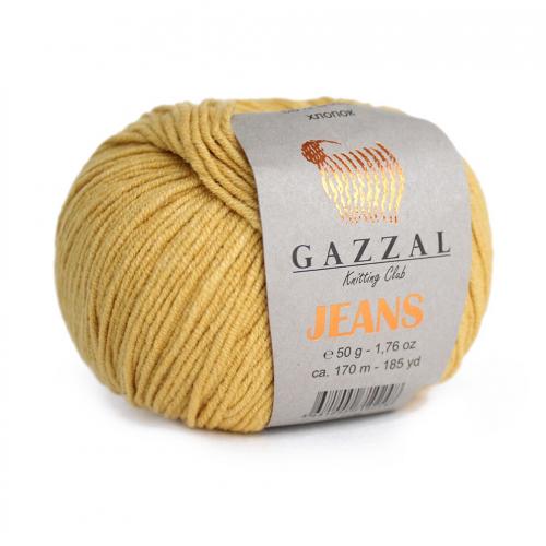 Нитки для вязания Gazzal Jeans, Горчица №1125