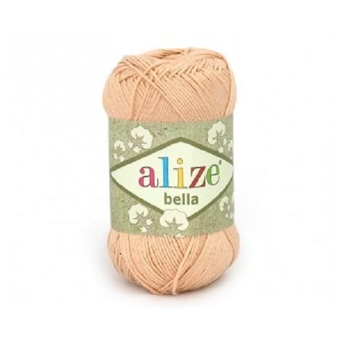 Пряжа хлопок для вязания Alize Bella нагой № 417 фото