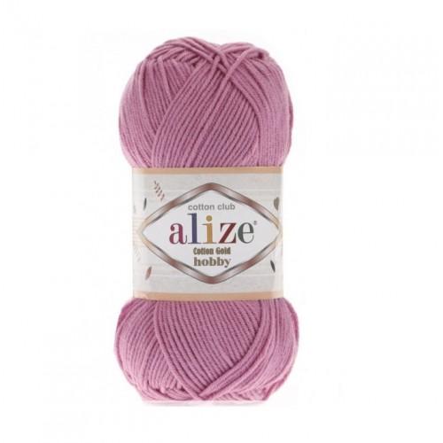 Нитки для вязания Alize Cotton Gold Hobby, Розовый №98