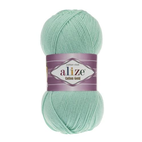 Нитки для вязания Alize Cotton Gold Hobby, Водяная зелень №15