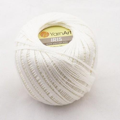 Нитки для вязания YarnArt IRIS белый №910 фото