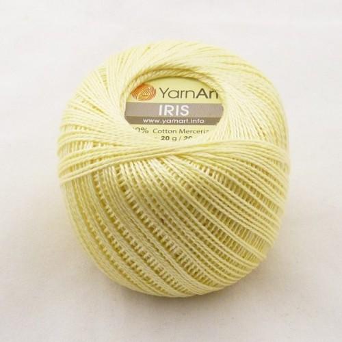 Нитки для вязания YarnArt IRIS нежно-желтый № 912 фото