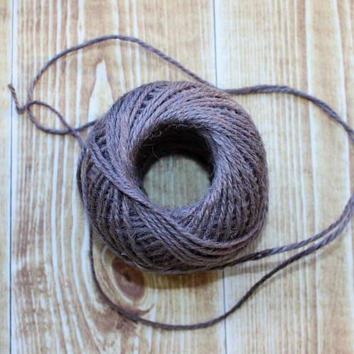 Веревка джутовая коричневая, толщина 2 мм
