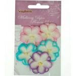 Набор цветов из шелковичной бумаги, пастельный