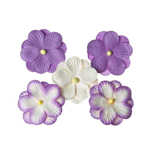 Набор цветов из шелковичной бумаги, фиолетовый