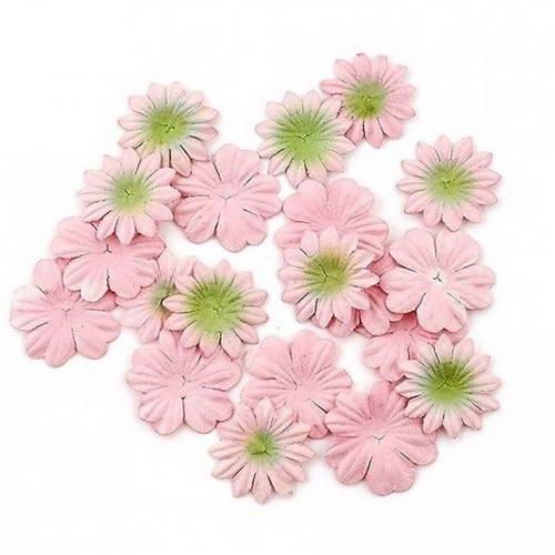 Цветы из шелковичной бумаги Персиковые