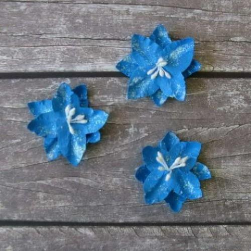 Лилия дикая синяя, 4 см