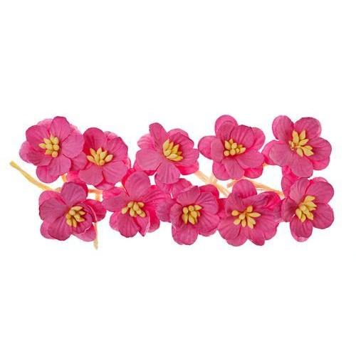 Цветы вишни ярко-розовые, 10 шт.