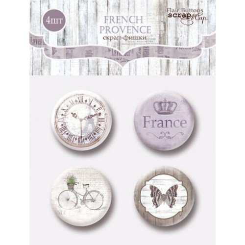 Набор скрап-фишек French Provence от Scrapmir, 4 шт.