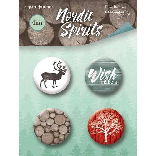 Набор скрап-фишек Nordic Spirits от Scrapmir, 4 шт.