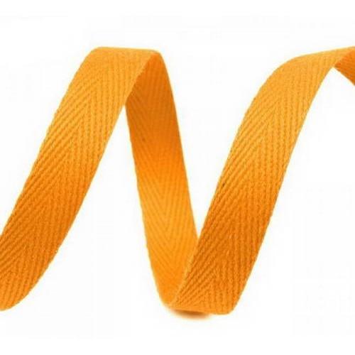 Киперная лента оранжевая светлая, ширина 10 мм