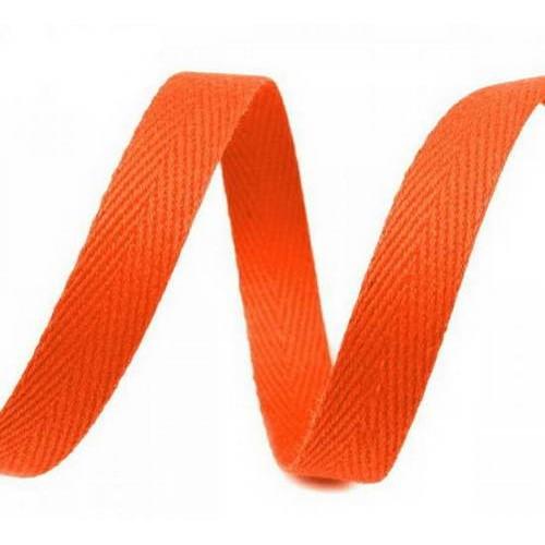 Киперная лента оранжевая темная, ширина 10 мм