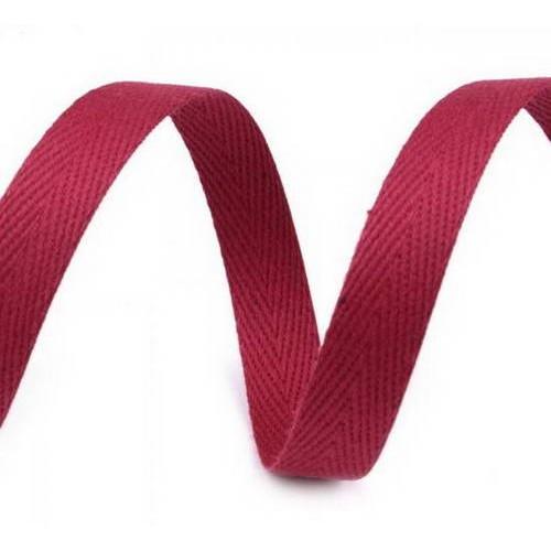 Киперная лента красная, ширина 10 мм