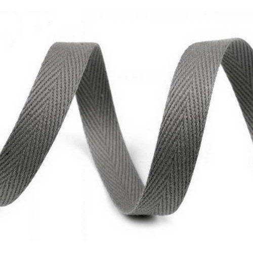 Киперная лента серая темная, ширина 10 мм