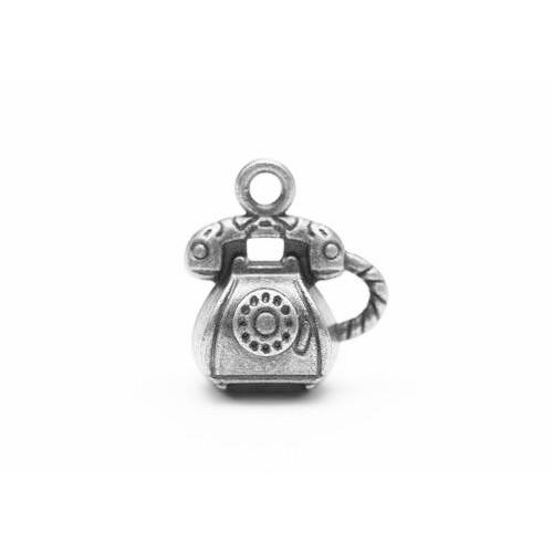 Подвеска металлическая Ретро-телефон от Scrapberry's