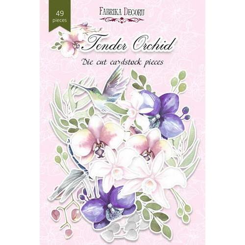 Набор высечек Фабрика Декору Tender Orchid, 49 шт.