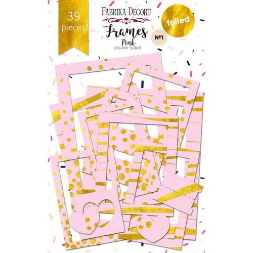 """Набор рамок с фольгированием №1 """"Pink"""""""