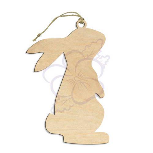 Заготовка из фанеры - Подвеска Кролик 2