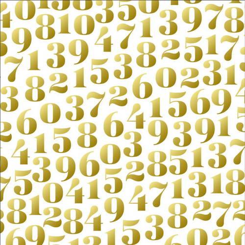 Калька веллум Dear Lizzy - Hooray with Gold, 30,5х30,5 см